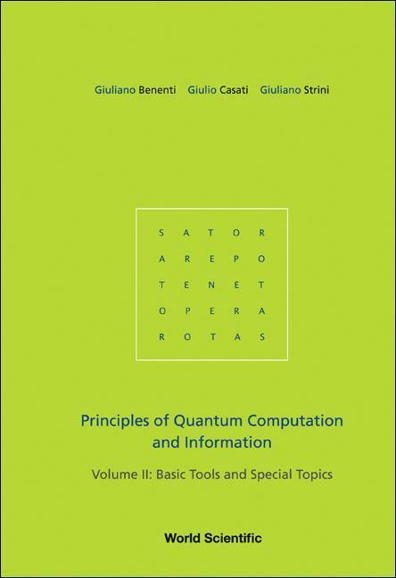 Principles Of Quantum Computation And Information - Volume Ii: Basic Tools And Special Topics als Buch