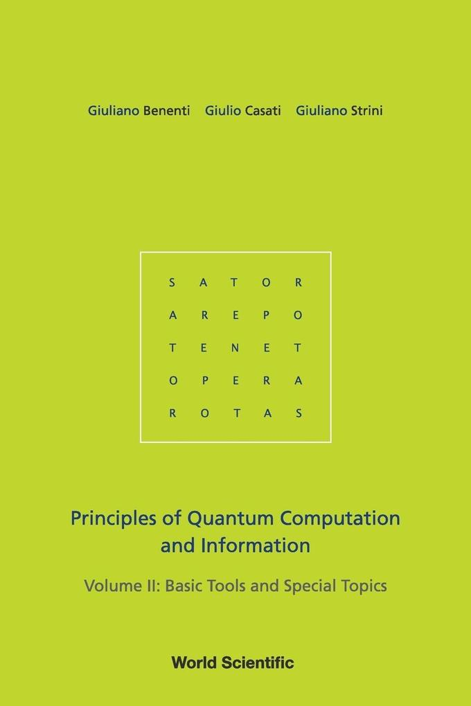 Principles of Quantum Computation and Information, Volume 2 als Taschenbuch