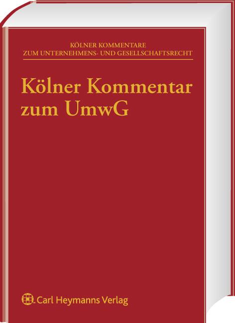 Kölner Kommentar zum Umwandlungsgesetz als Buch