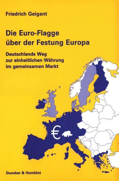 Die Euro-Flagge über der Festung Europa als Buch
