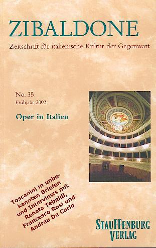 Zibaldone 33. Oper in Italien als Buch