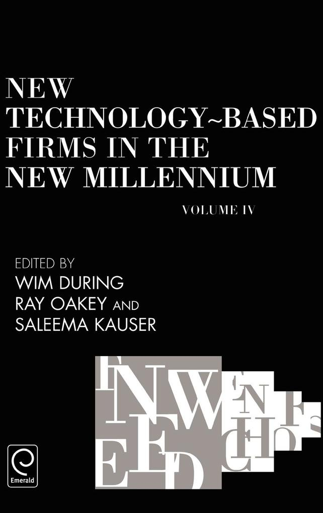 New Technology-Based Firms in the New Millennium als Buch