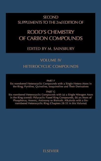 Heterocyclic Compounds Ssrcc IV Part F: Six-Membered Heter Comp Single Heter-Atom in the Ringpart G (Partial): Six Membered Heter Comp als Buch