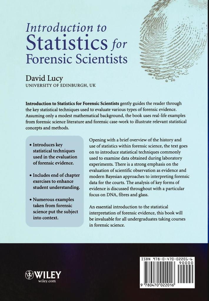Intro Statistics for Forensic Scientists als Taschenbuch