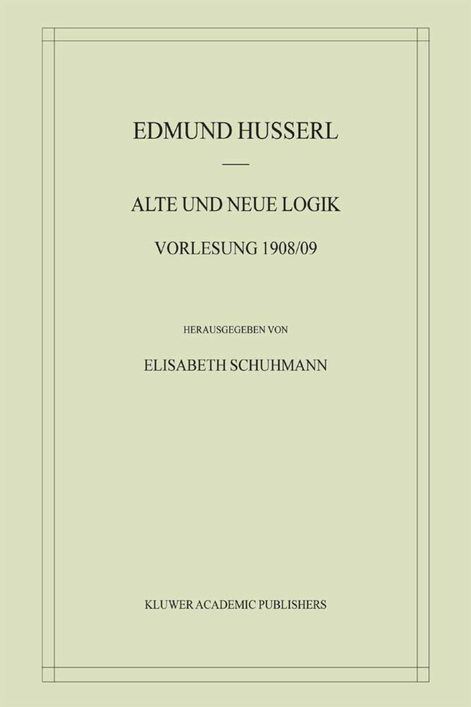 Alte und Neue Logik als Buch