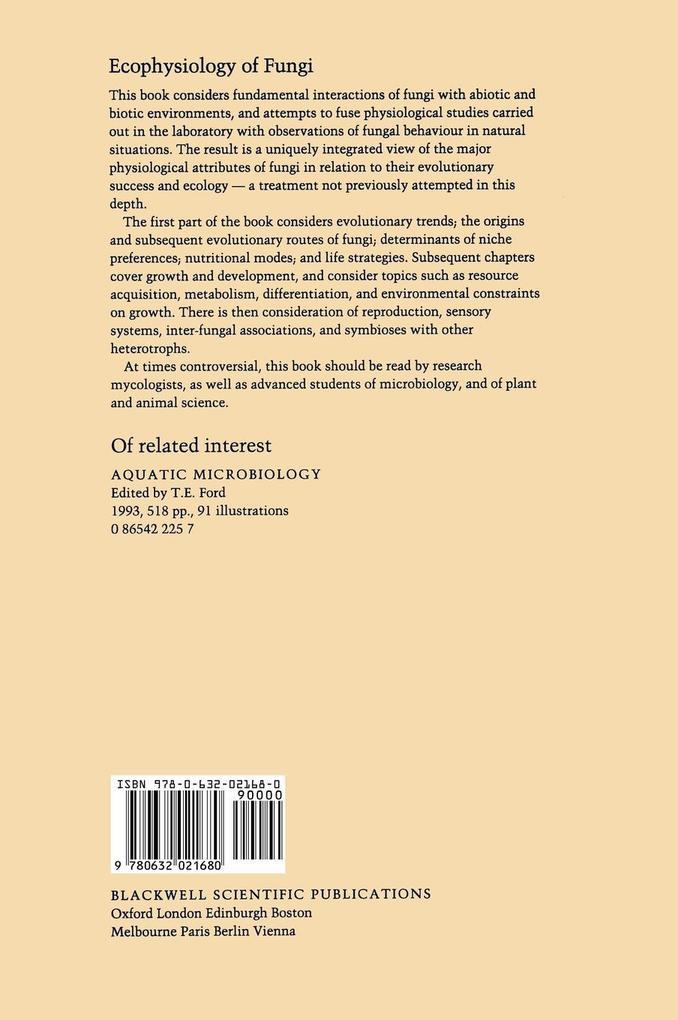 Ecophysiology of Fungi als Buch