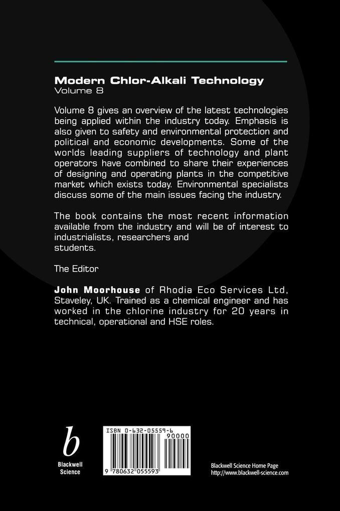 Modern Chlor-Alkali Technology als Buch