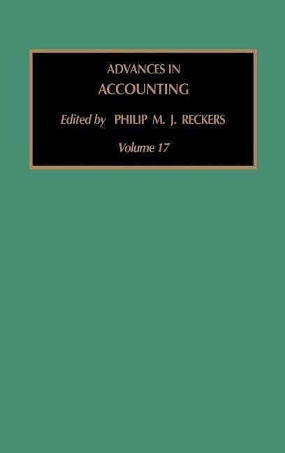 Advances in Accounting als Buch
