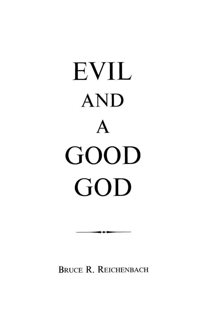 Evil and a Good God als Taschenbuch