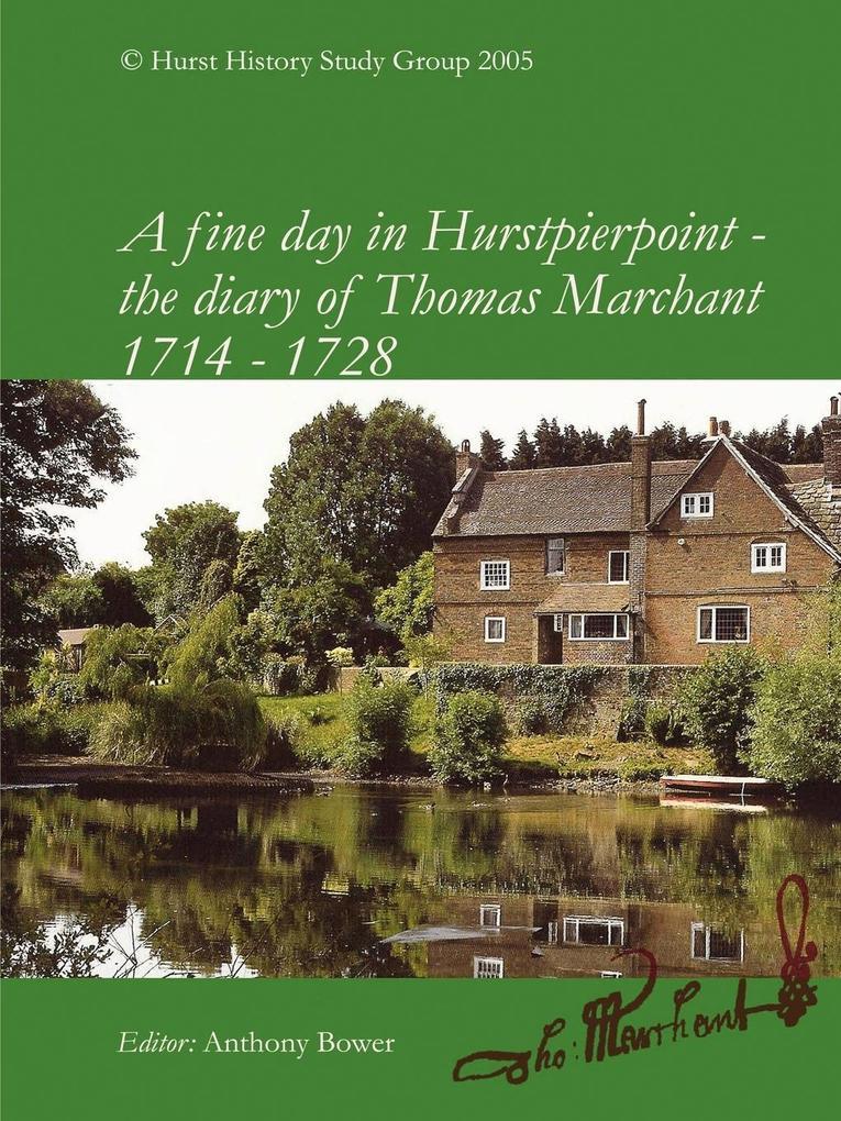 A Fine Day in Hurstpierpoint - The Diary of Thomas Marchant als Taschenbuch
