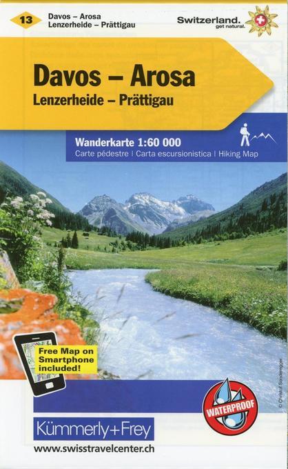 KuF Schweiz Wanderkarte 13 Davos / Arosa 1 : 60 000 als Buch