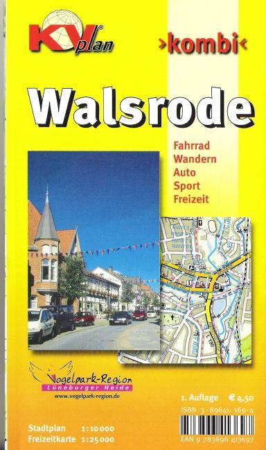 Kombi Walsrode. Stadtplan 1 : 10 000, Freizeitkarte 1 : 25 000 als Buch