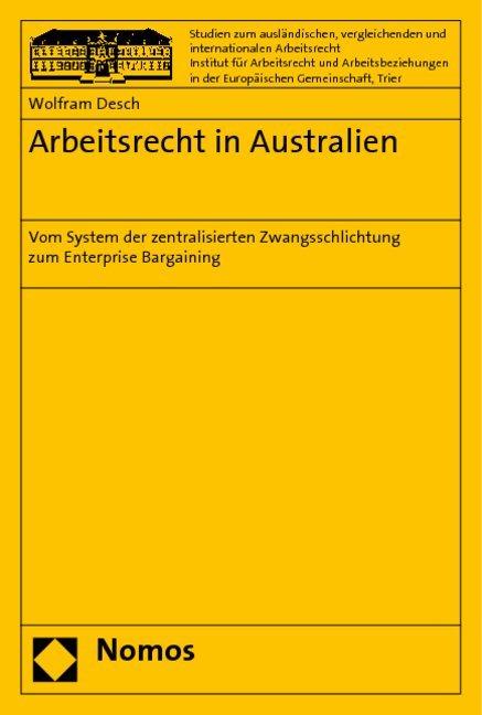 Arbeitsrecht in Australien als Buch