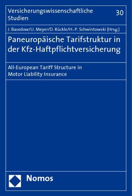 Paneuropäische Tarifstruktur in der Kfz-Haftpflichtversicherung als Buch