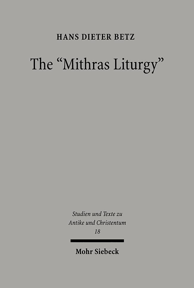 """The """" Mithras Liturgy """" als Buch"""