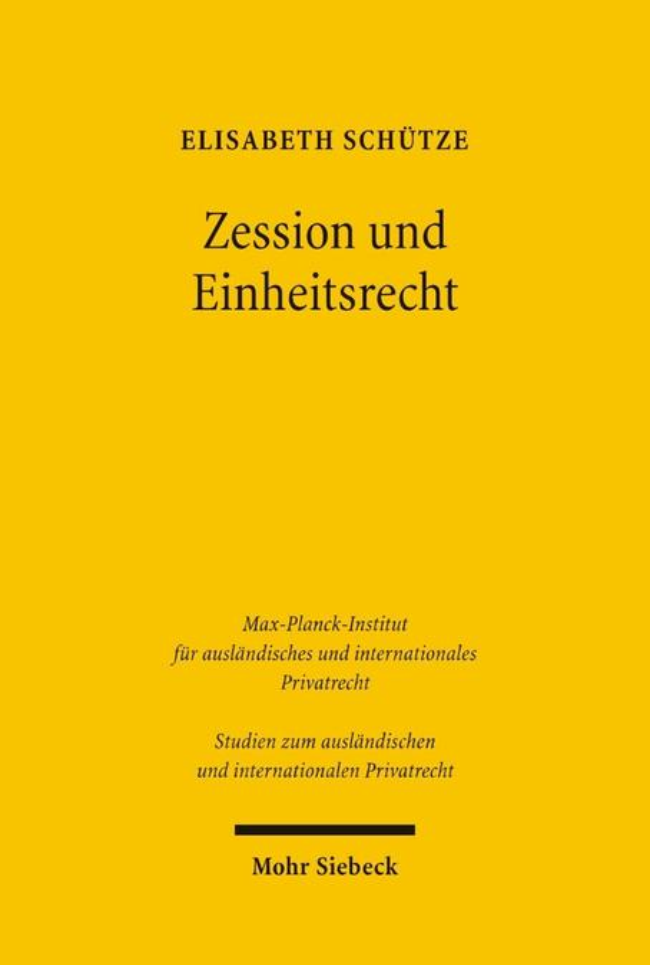 Zession und Einheitsrecht als Buch