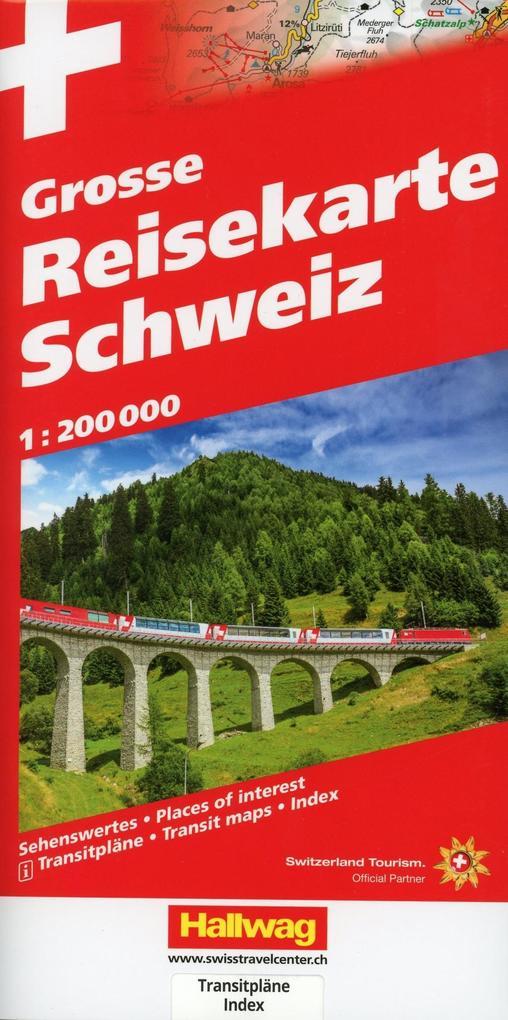Grosse Reisekarte Schweiz 1 : 200 000 als Buch