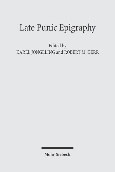 Late Punic Epigraphy als Buch