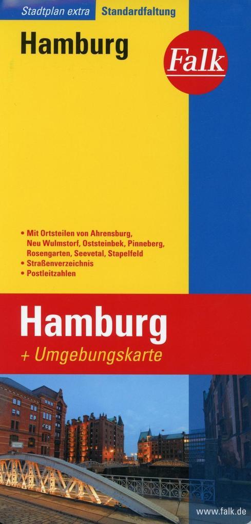 Falk Stadtplan Extra Standardfaltung Hamburg 1:...