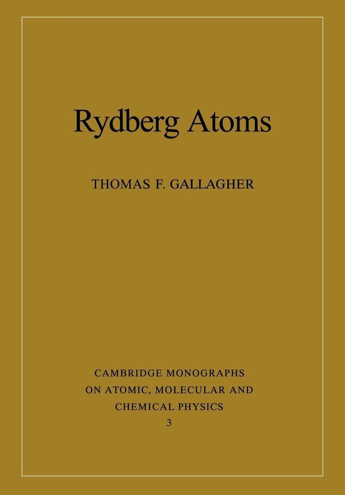 Rydberg Atoms als Taschenbuch