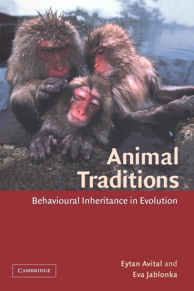 Animal Traditions als Taschenbuch