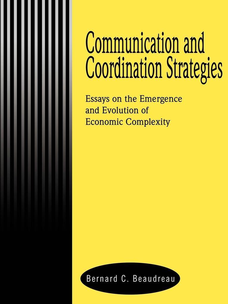 Communication and Coordination Strategies als Taschenbuch