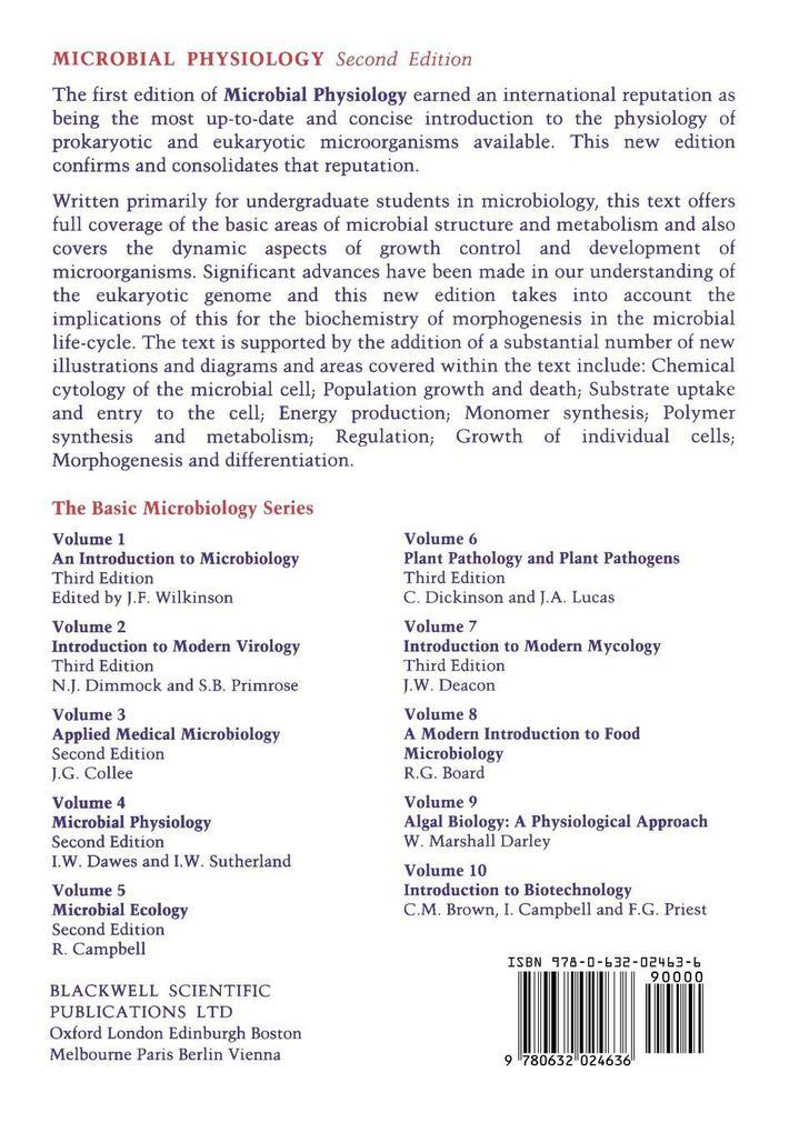 Microbial Physiology als Taschenbuch
