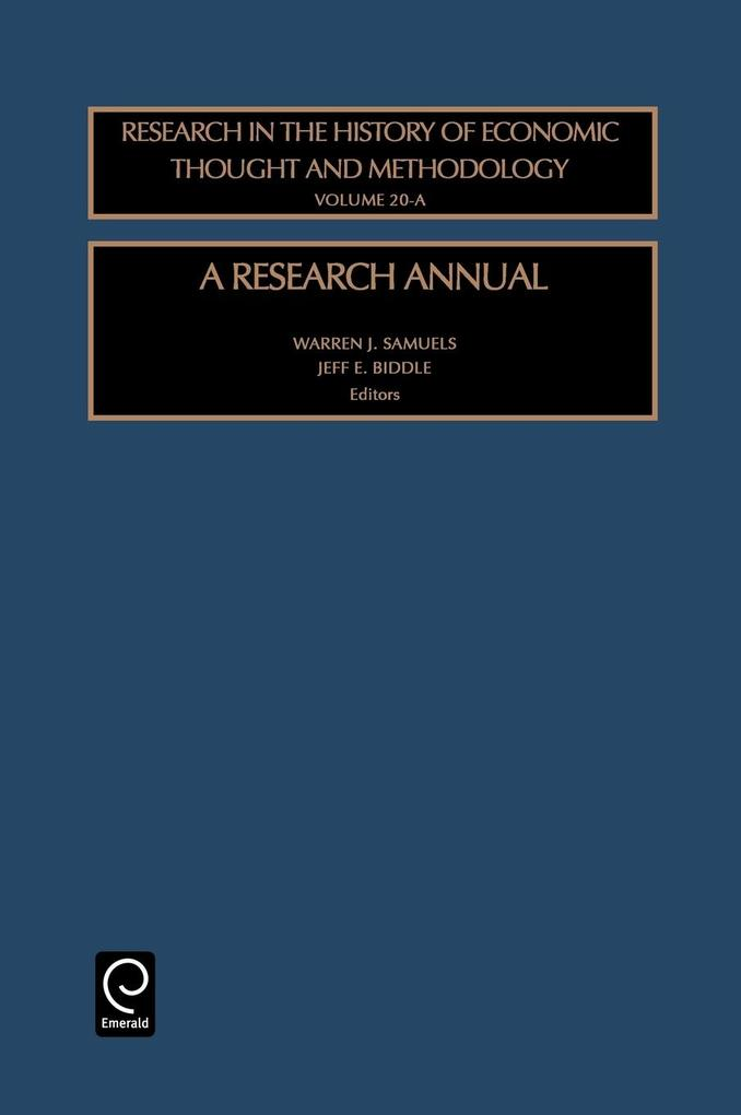 A Research Annualres in the History of Economic Thought & Methodology Vol20a (Rhet) als Buch
