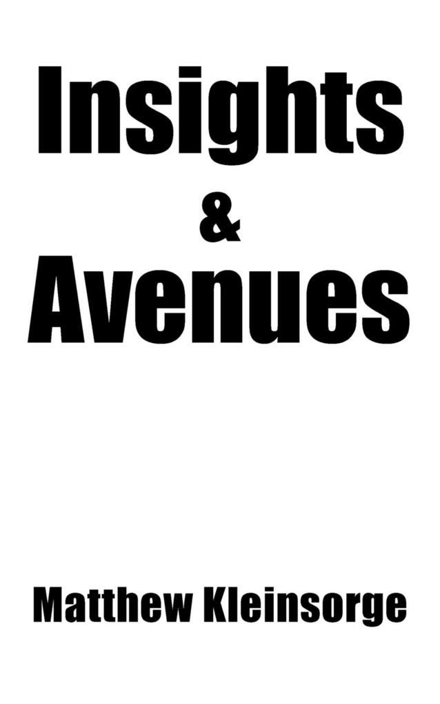 Insights and Avenues als Taschenbuch