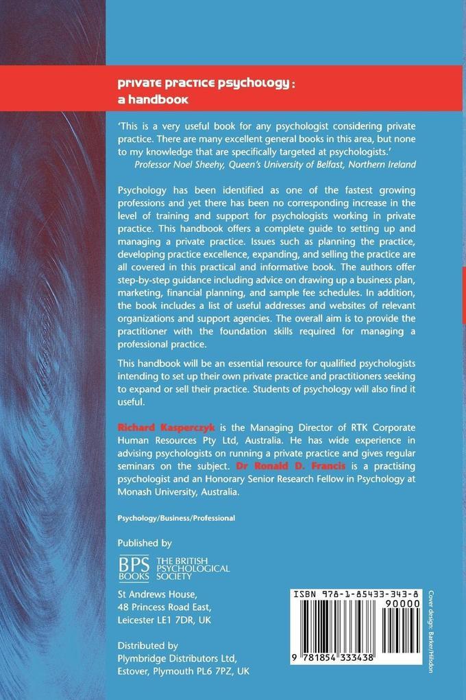 Private Practice Psychology als Taschenbuch