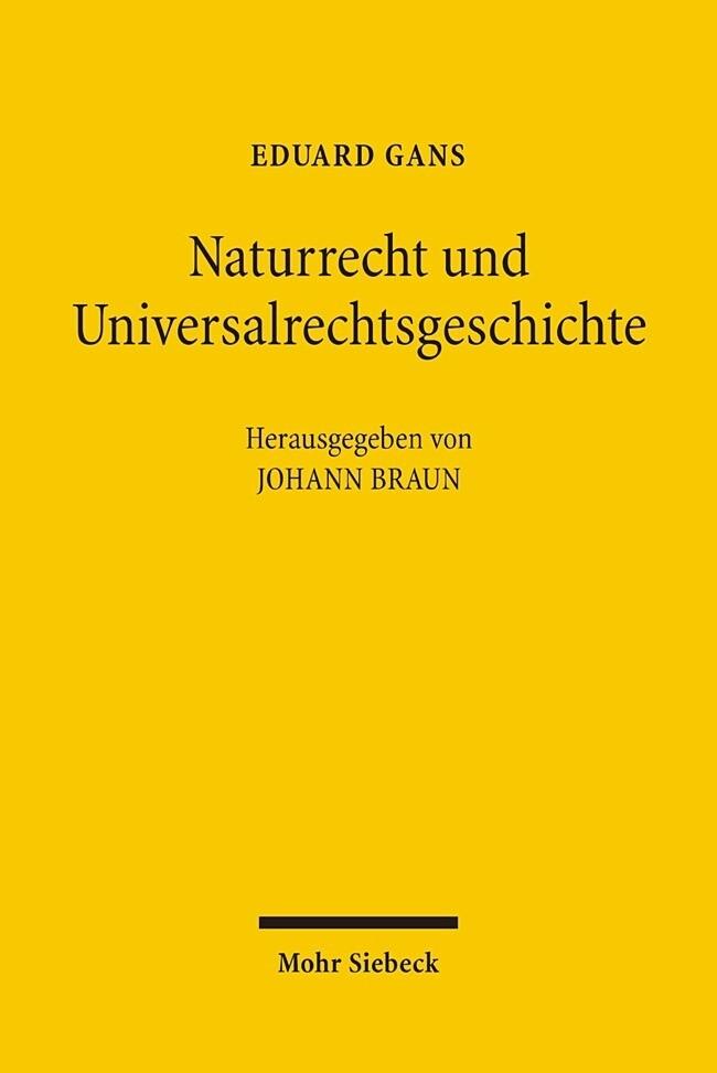 Naturrecht und Universalrechtsgeschichte als Buch
