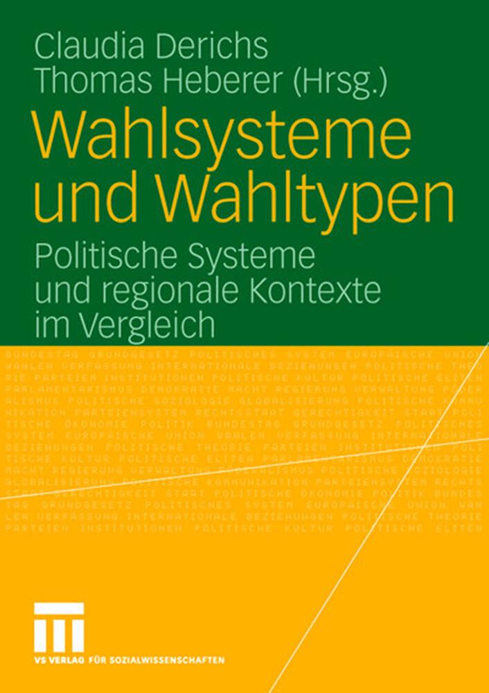 Wahlsysteme und Wahltypen als Buch