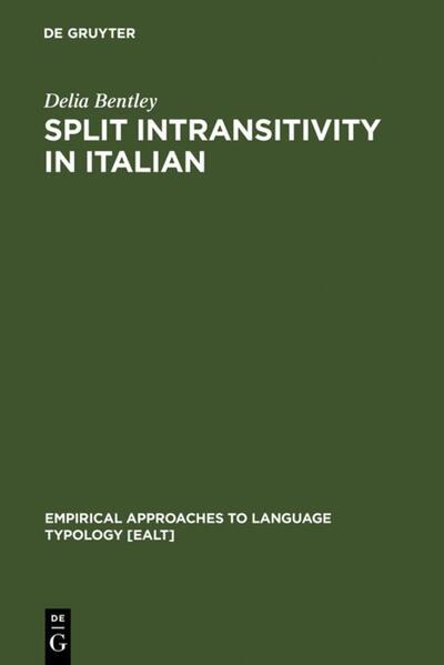 Split Intransitivity in Italian als Buch