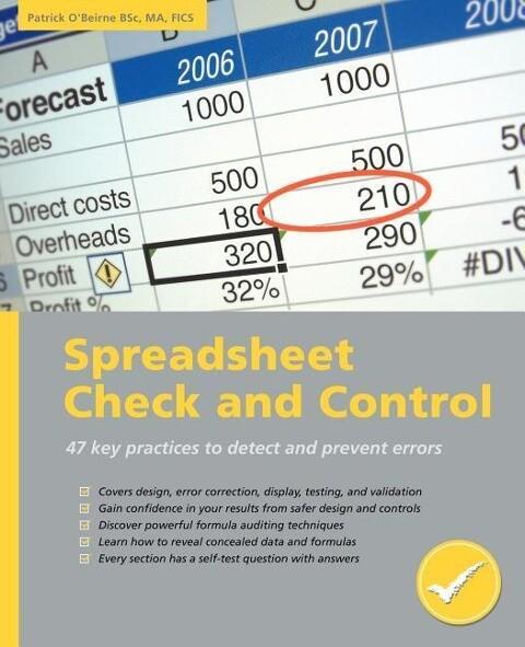 Spreadsheet Check and Control als Taschenbuch