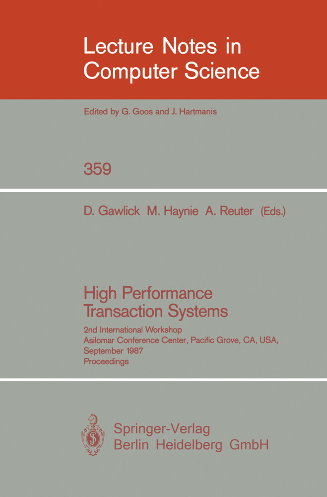 High Performance Transaction Systems als Buch