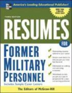 Resumes for Former Military Personnel als Taschenbuch