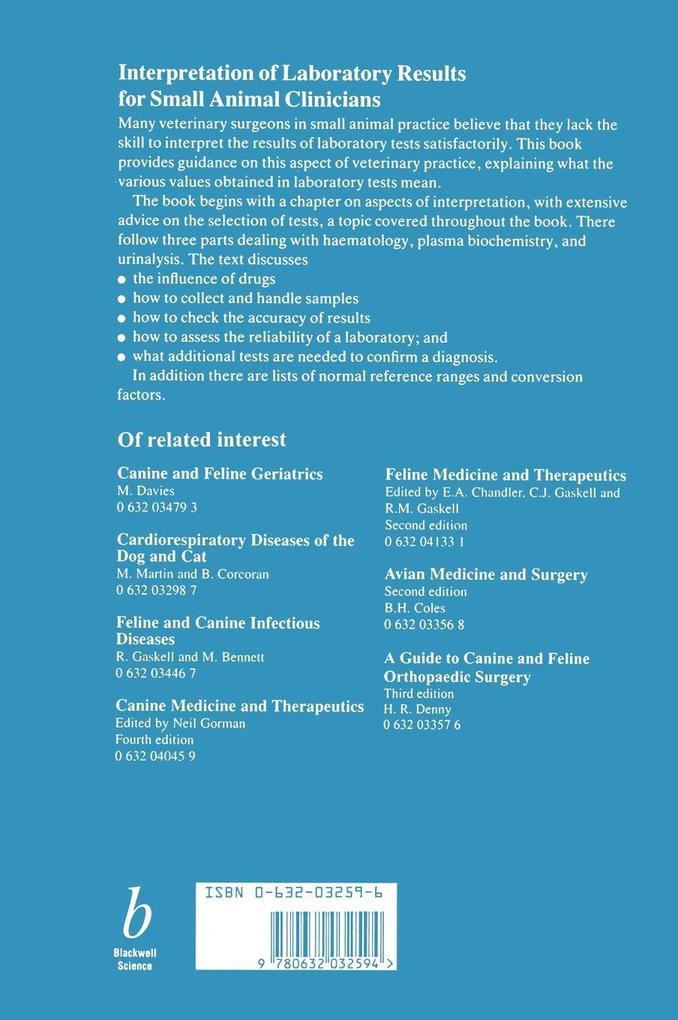 Interpretation of Lab Results-91 als Buch