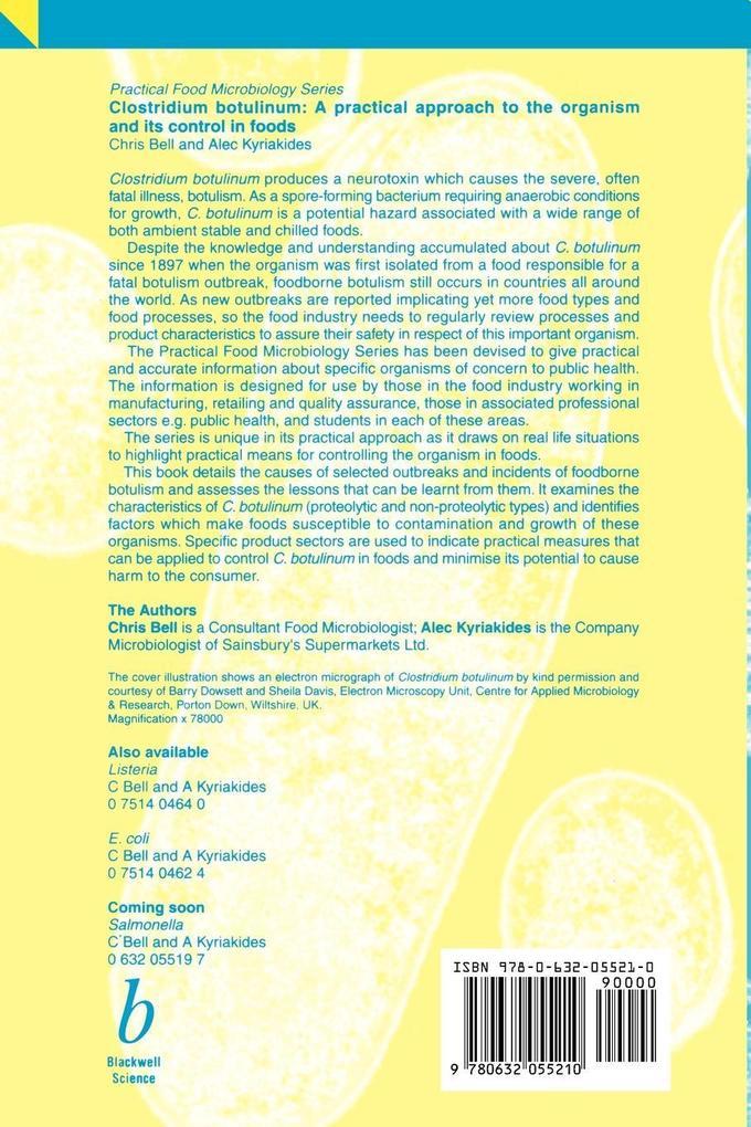 Clostridium Botulinum als Taschenbuch
