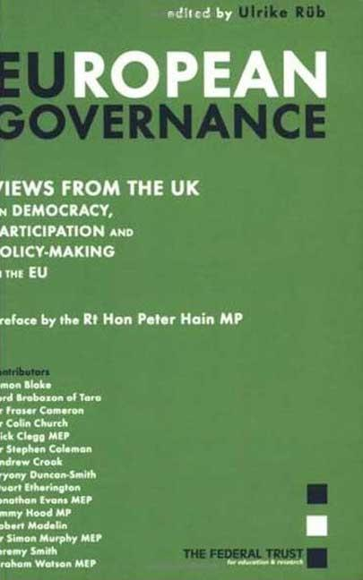 European Governance: View from the UK als Buch