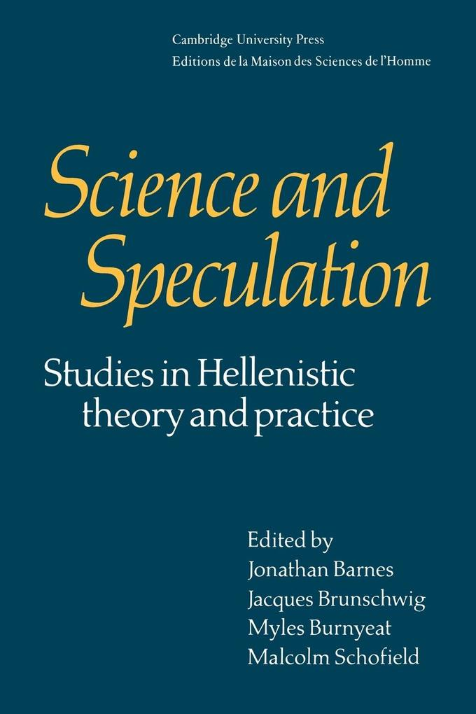 Science and Speculation als Buch