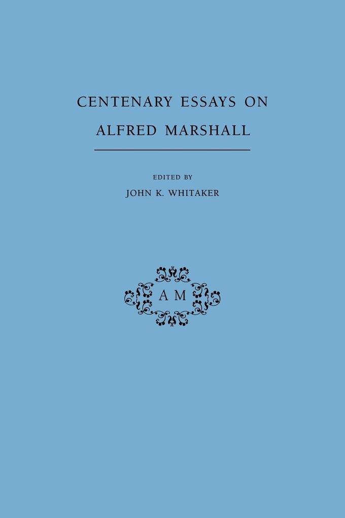 Centenary Essays on Alfred Marshall als Taschenbuch