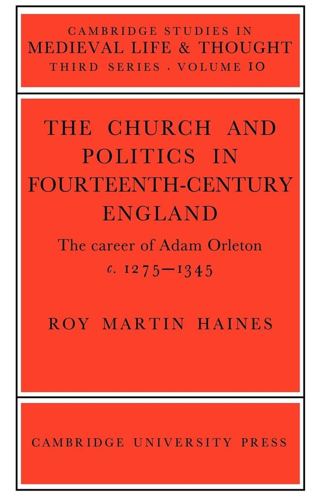 Church/Politcs: Adam Orleton als Buch