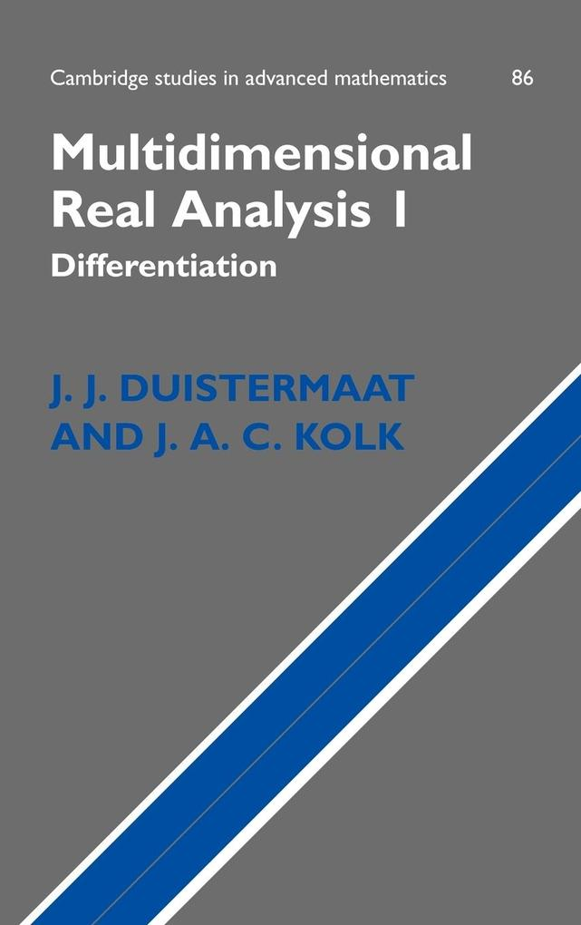 Multidimensional Real Analysis als Buch