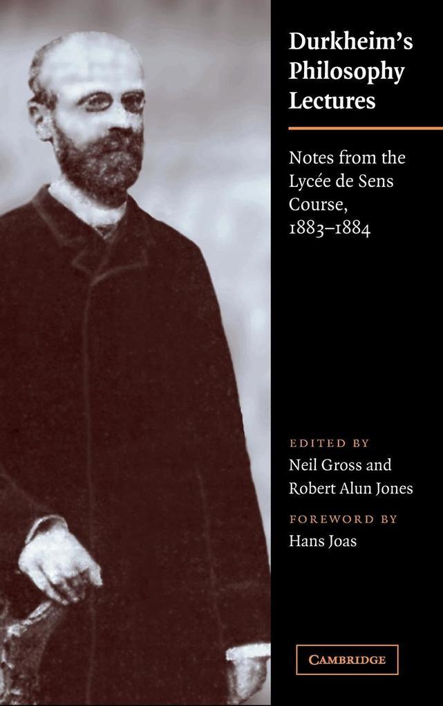 Durkheim's Philosophy Lectures als Buch