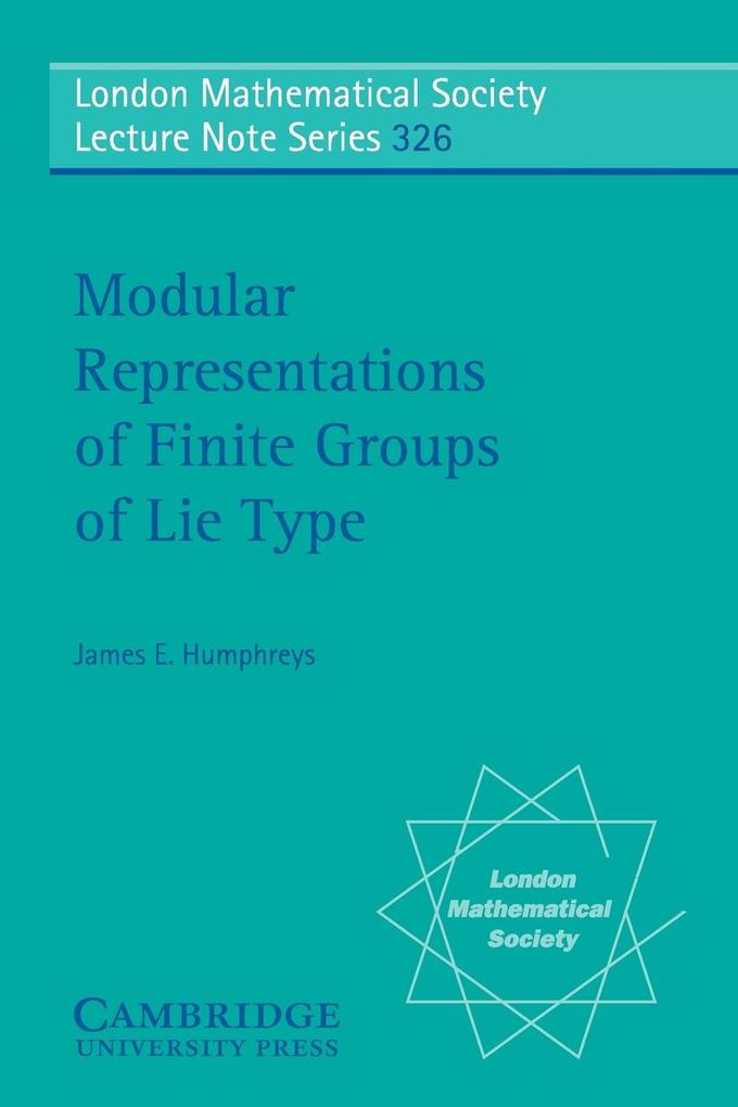 Modular Representations of Finite Groups of Lie Type als Buch