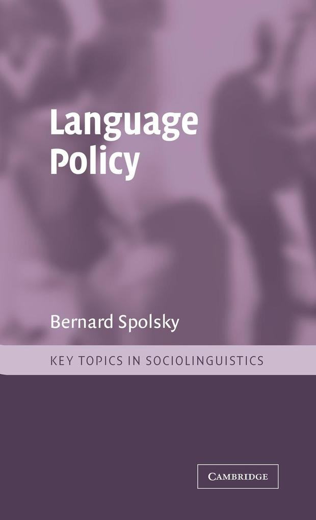 Language Policy als Buch