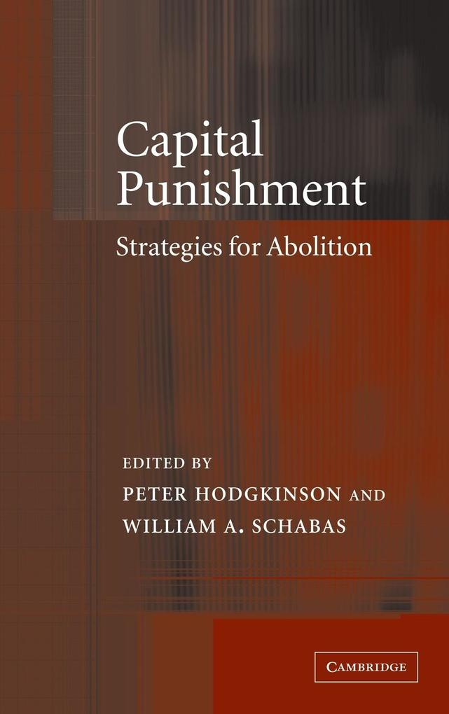 Capital Punishment: Strategies for Abolition als Buch