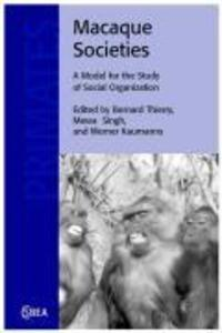 Macaque Societies: A Model for the Study of Social Organization als Buch