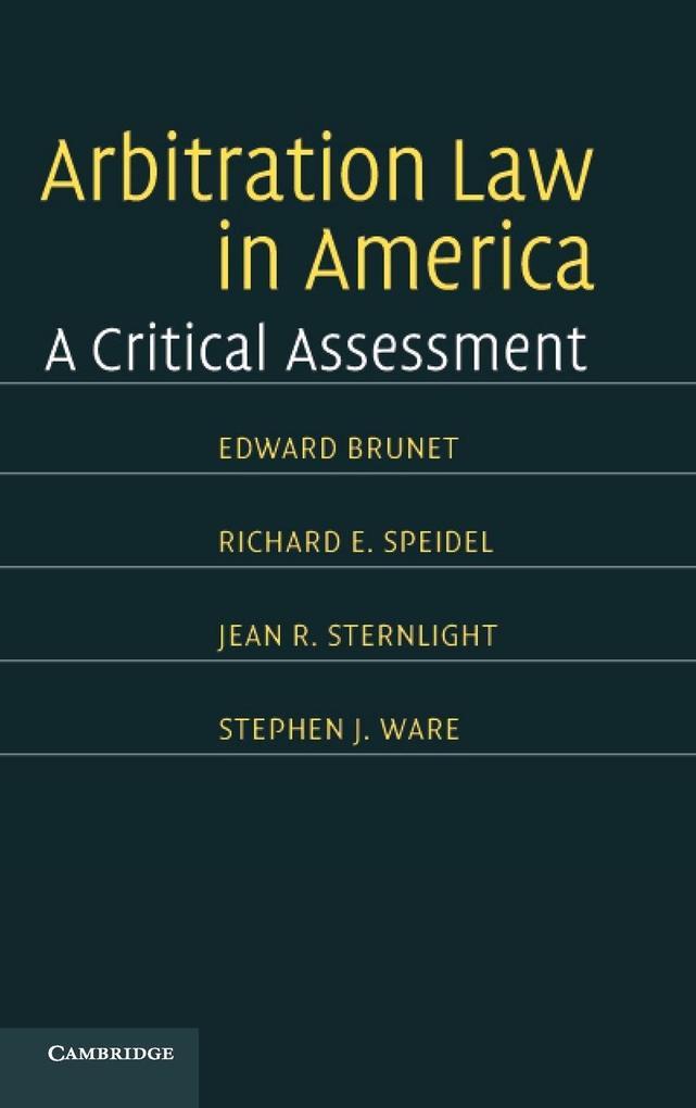 Arbitration Law in America als Buch