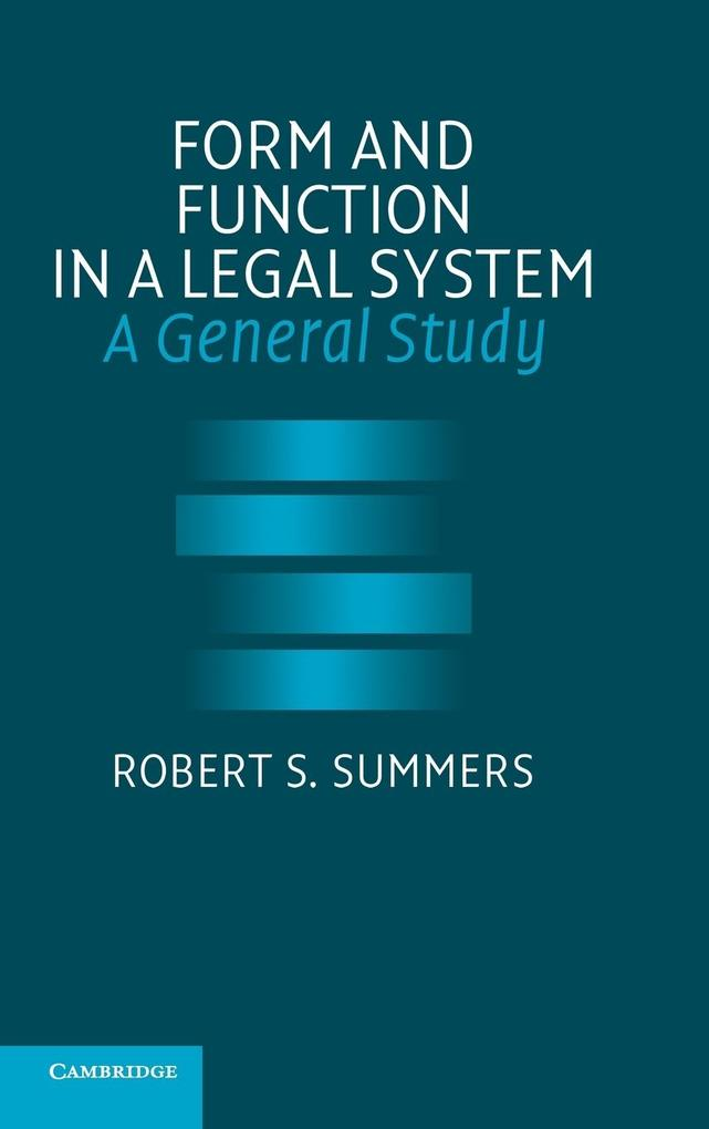 Form and Function in a Legal System als Buch